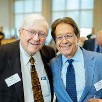 President Emeritus Don Lubbers posing with Jim Brooks at the Foundation Annual Meeting